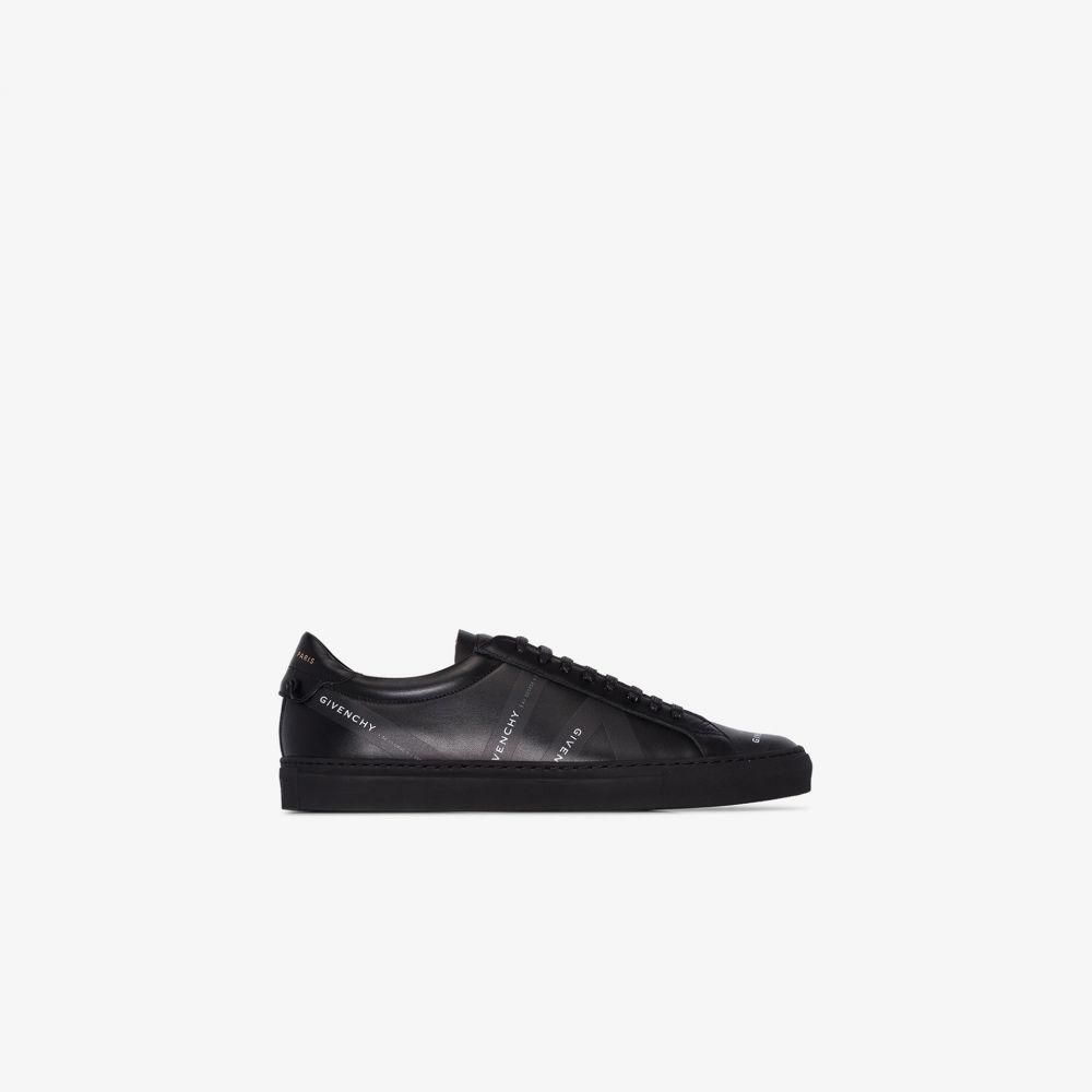 ジバンシー Givenchy メンズ スニーカー シューズ・靴【black logo tape leather sneakers】black