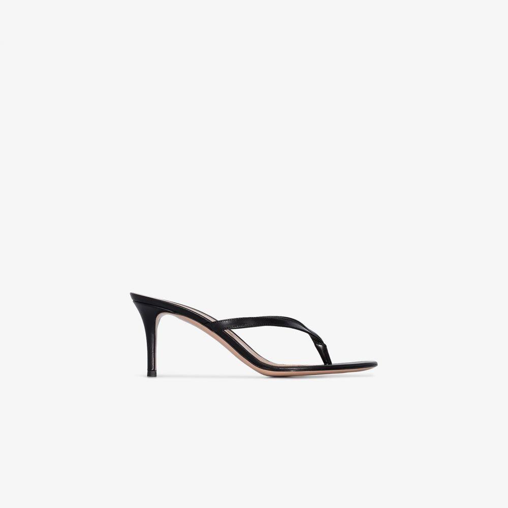 ジャンヴィト ロッシ Gianvito Rossi レディース サンダル・ミュール シューズ・靴【black Calypso 70 leather sandals】black