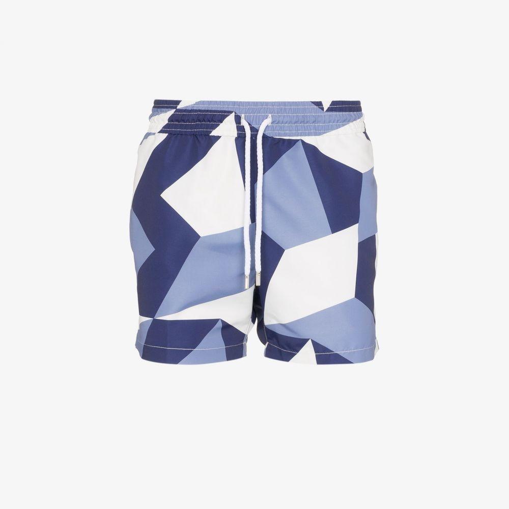 フレスコボールカリオカ Frescobol Carioca メンズ 海パン ショートパンツ 水着・ビーチウェア【CA Modernist swim shorts】blue