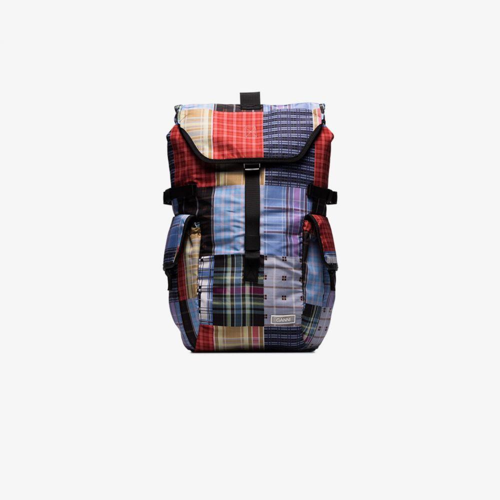 ガニー GANNI レディース バックパック・リュック バッグ【Multicoloured Patchwork Print Backpack】blue