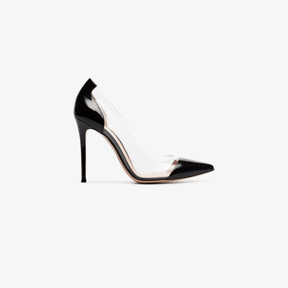 ジャンヴィト ロッシ Gianvito Rossi レディース パンプス シューズ・靴【black and transparent plexi 105 PVC pumps】black