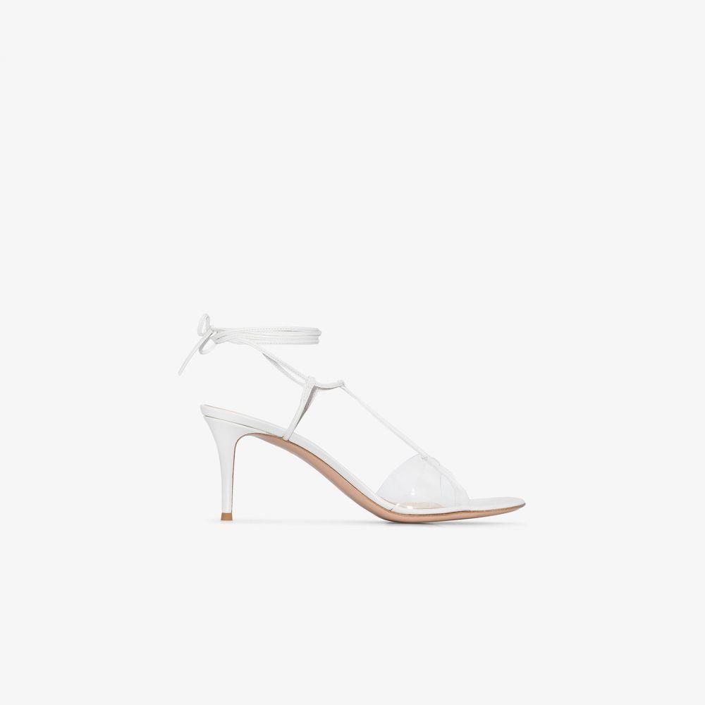 ジャンヴィト ロッシ Gianvito Rossi レディース サンダル・ミュール シューズ・靴【White 70 ankle tie leather sandals】white