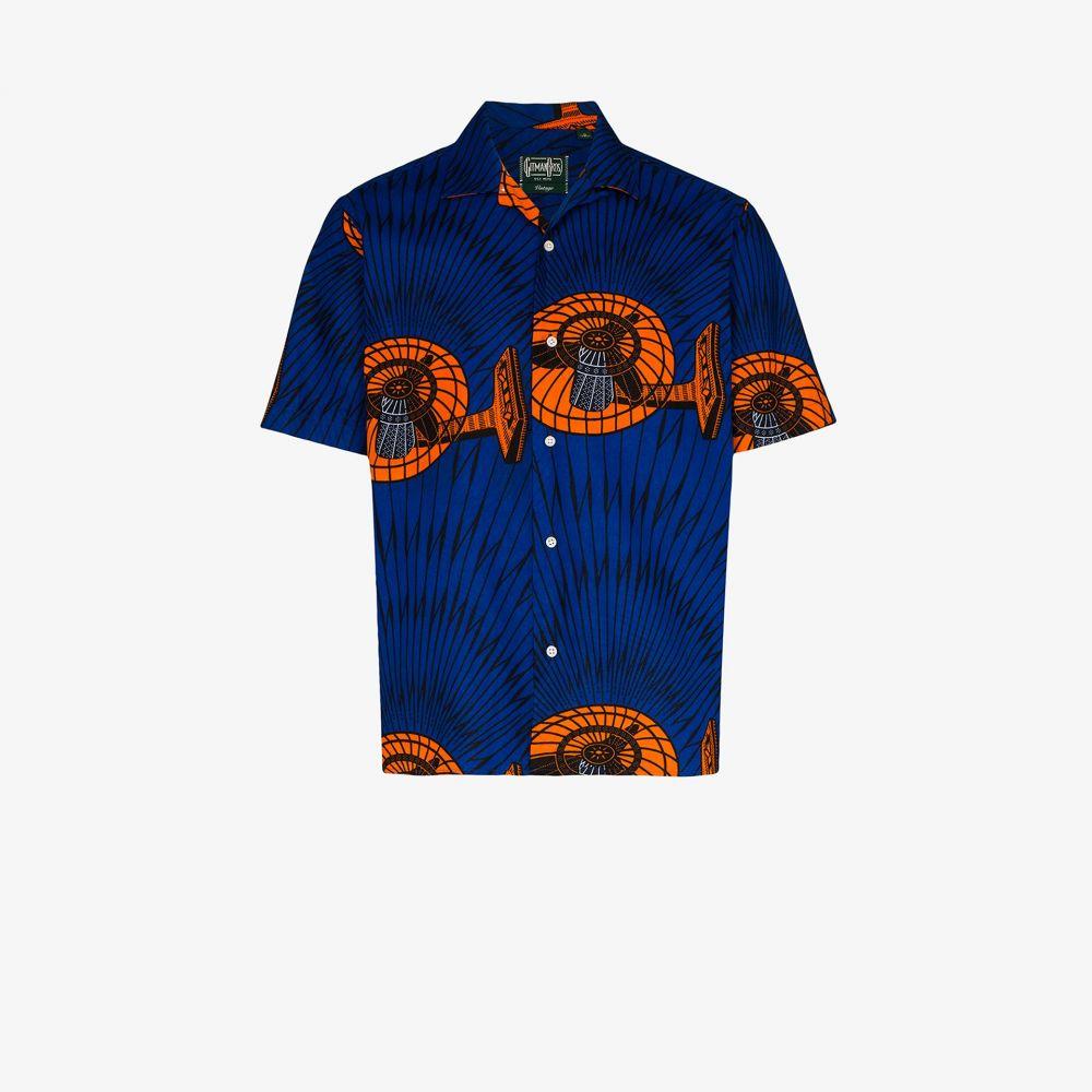 ギットマンヴィンテージ Gitman Vintage メンズ シャツ トップス【printed cotton shirt】blue