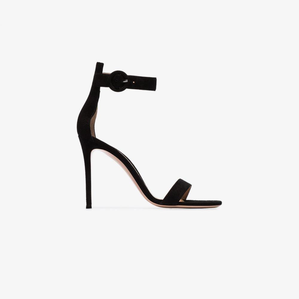 ジャンヴィト ロッシ Gianvito Rossi レディース サンダル・ミュール シューズ・靴【105mm strappy suede sandals】black