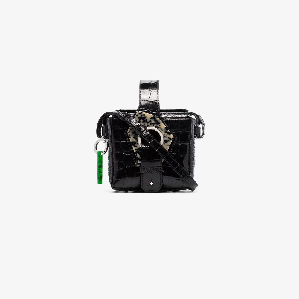 ガニー GANNI レディース ショルダーバッグ バッグ【Black crocodile effect leather bracelet bag】black