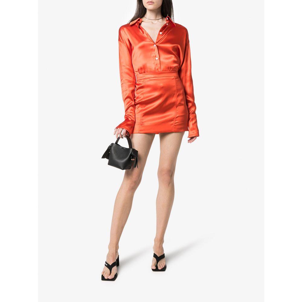 ゲージ81 GAUGE81 レディース ブラウス・シャツ トップス palermo oversized satin shirt orangezUVSMp