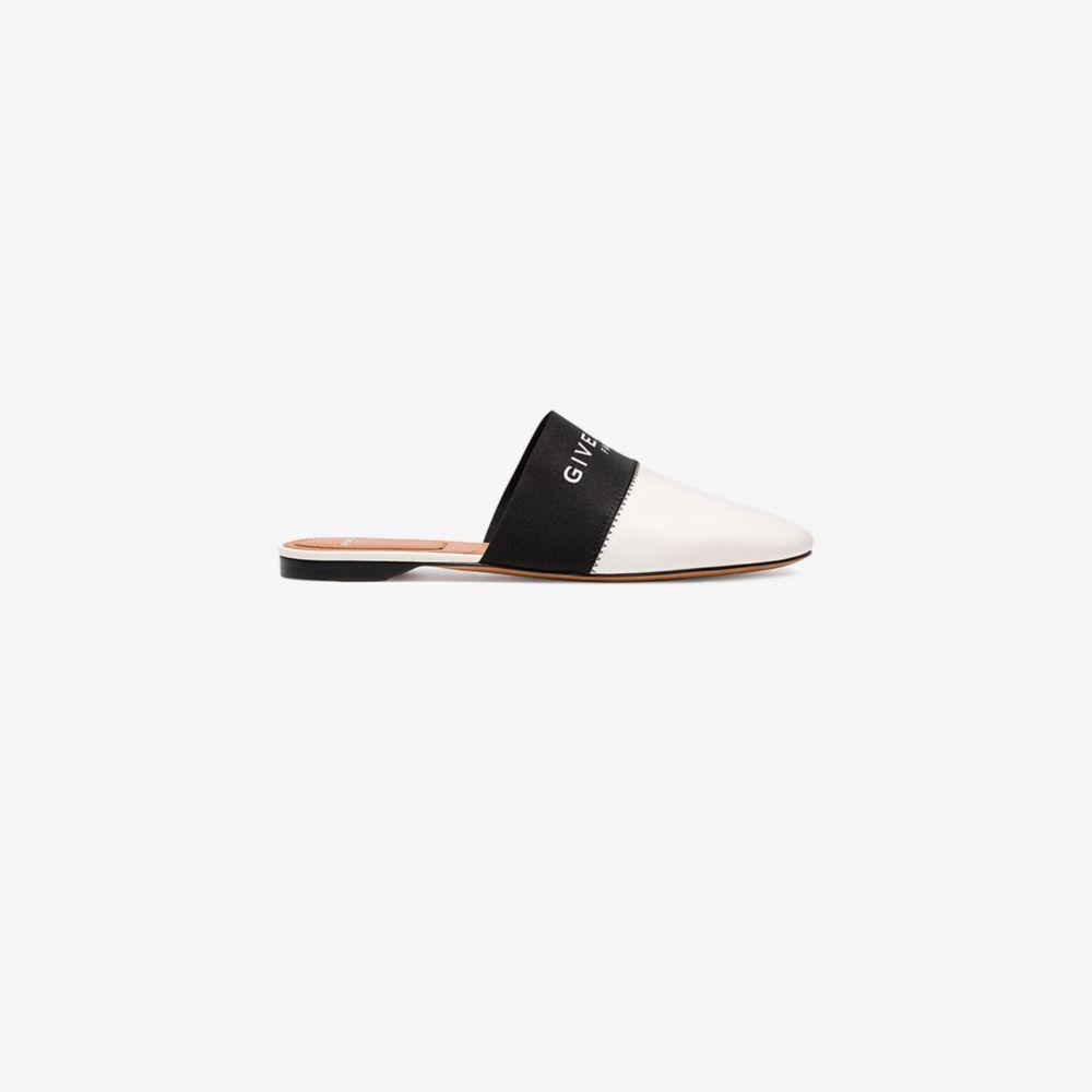 ジバンシー Givenchy レディース サンダル・ミュール シューズ・靴【black and white Bedford logo mules】black