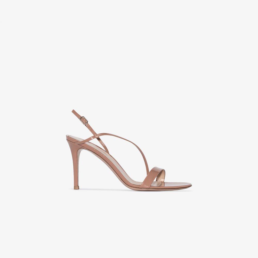 ジャンヴィト ロッシ Gianvito Rossi レディース サンダル・ミュール シューズ・靴【Nude Manhattan 85 patent leather sandals】neutrals