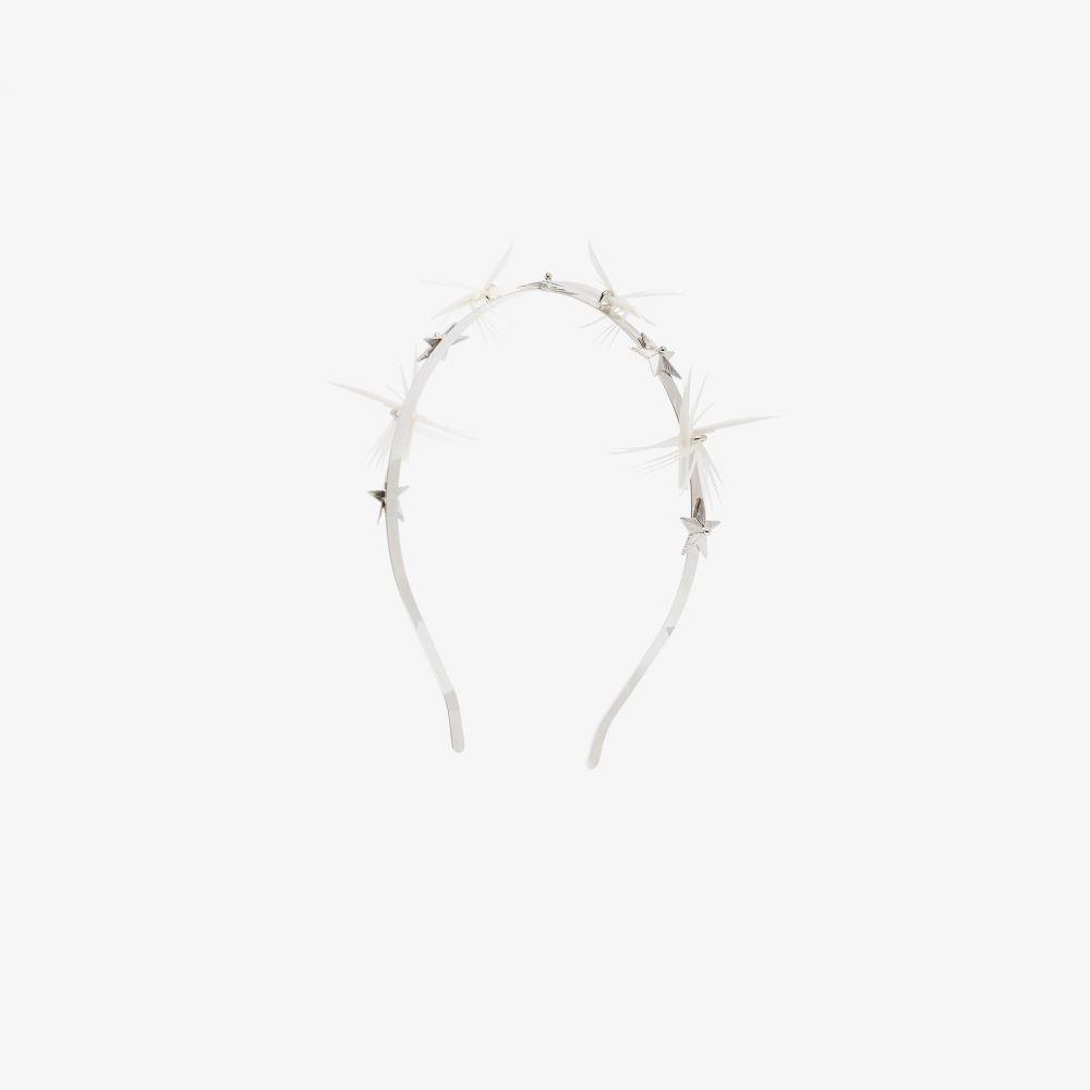 ジジバリスミリナリー Gigi Burris Millinery レディース ヘアアクセサリー ヘッドバンド【White Dhalyn star feather headband】metallic