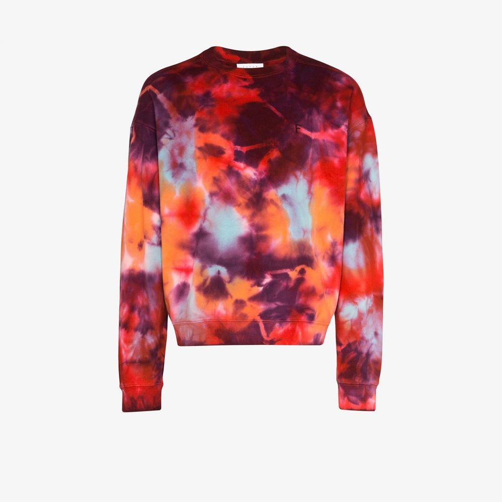 フューチャー Futur メンズ シャツ トップス【Tidy Outline tie-dye sweatshirt】red