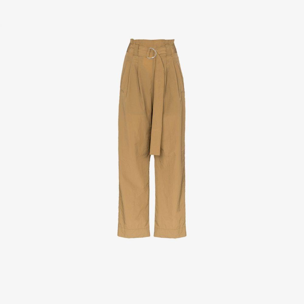 ガニー GANNI レディース ボトムス・パンツ 【Belted High Waist Trousers】brown