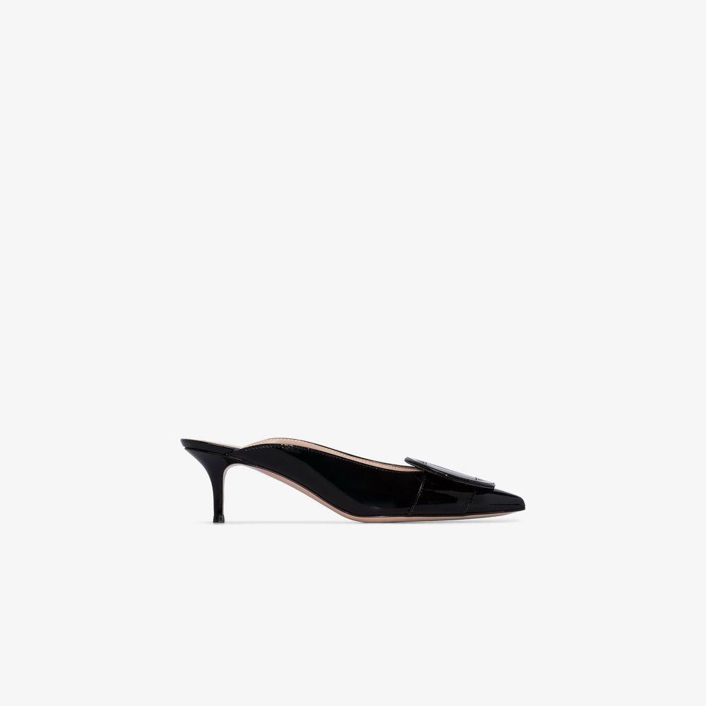 ジャンヴィト ロッシ Gianvito Rossi レディース サンダル・ミュール シューズ・靴【black Ruby 55 leather mules】black