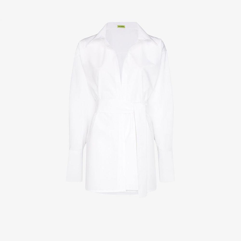 ゲージ81 GAUGE81 レディース ブラウス・シャツ トップス【Casablanca shirt】white
