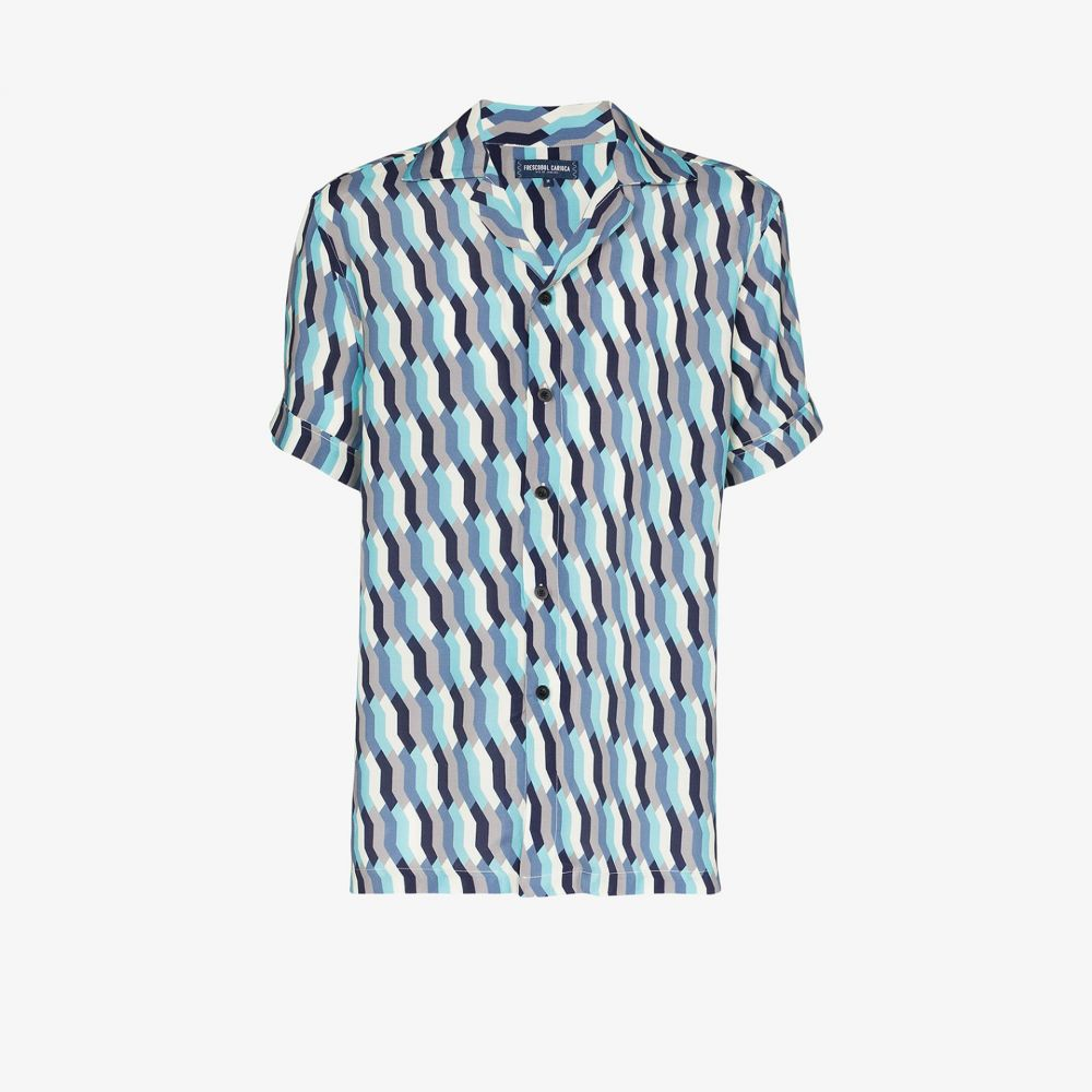 フレスコボールカリオカ Frescobol Carioca メンズ シャツ トップス【Fresco mosaic print shirt】blue
