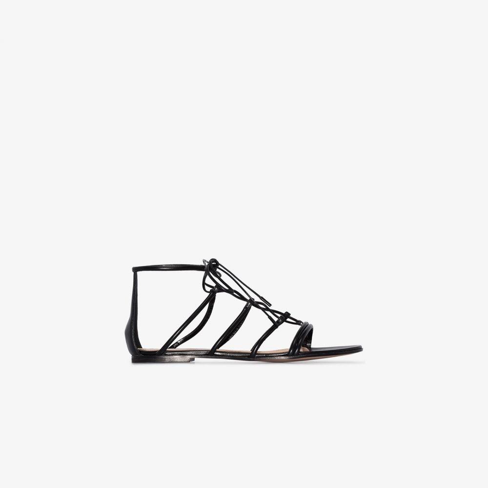 ジャンヴィト ロッシ Gianvito Rossi レディース サンダル・ミュール シューズ・靴【black leather gladiator sandals】black