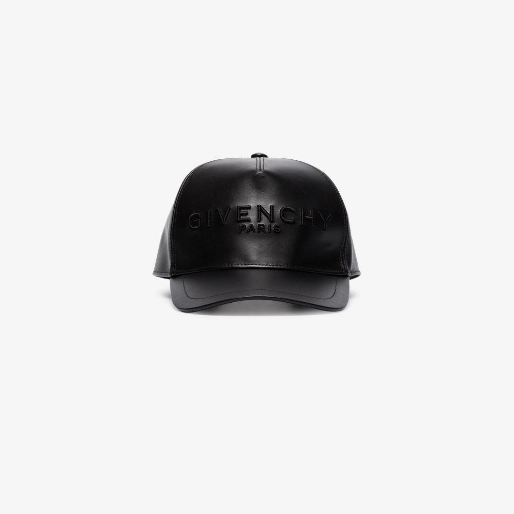 ジバンシー Givenchy メンズ キャップ ベースボールキャップ 帽子【black leather baseball cap】black
