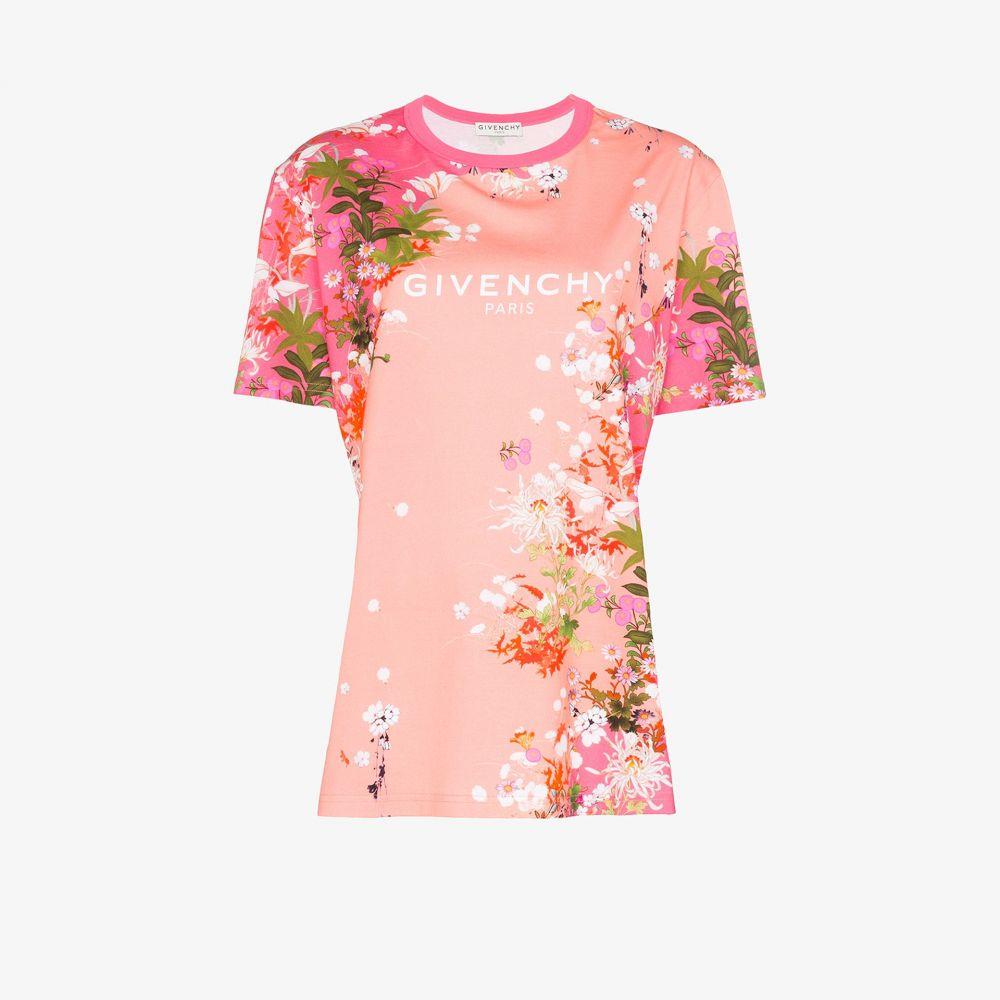ジバンシー Givenchy レディース Tシャツ トップス【cherry blossom logo print T-shirt】pink