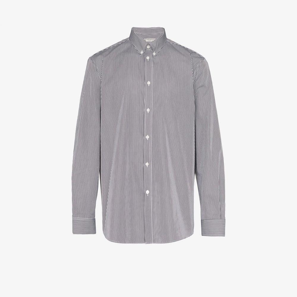 ジバンシー Givenchy メンズ シャツ トップス【logo print striped shirt】white