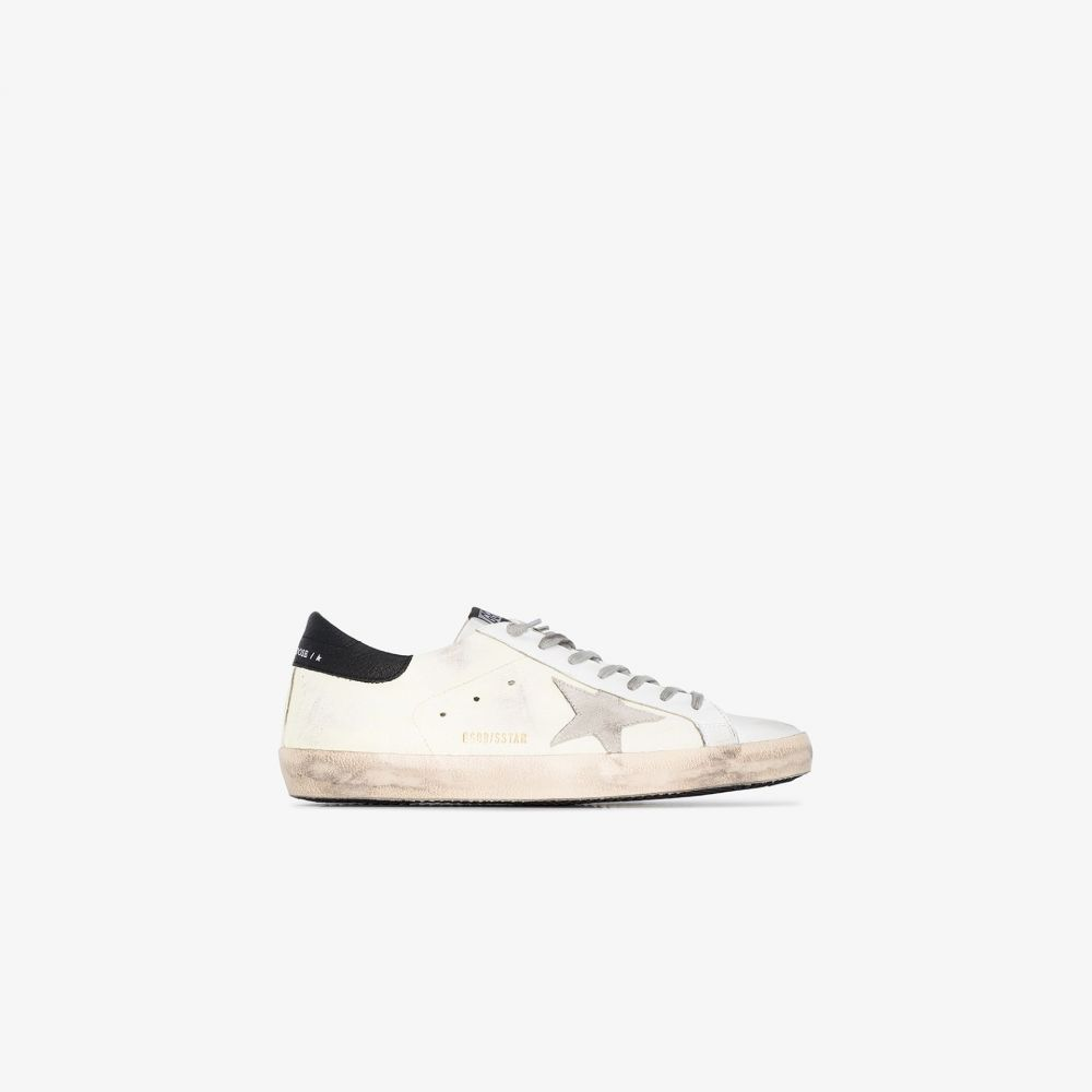 ゴールデン グース Golden Goose メンズ スニーカー シューズ・靴【White Superstar leather worn effect sneakers】white
