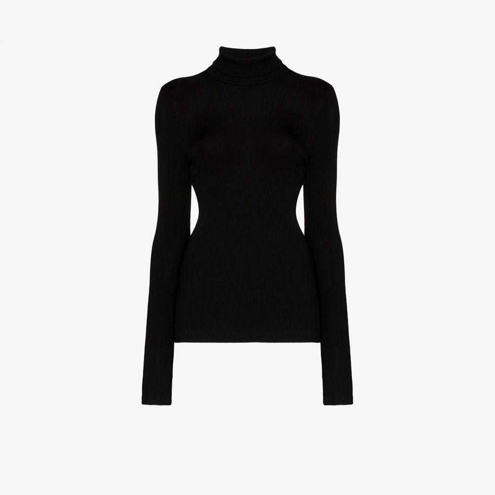 ゴールドサイン GOLDSIGN レディース ニット・セーター トップス【Ribbed turtleneck sweater】black