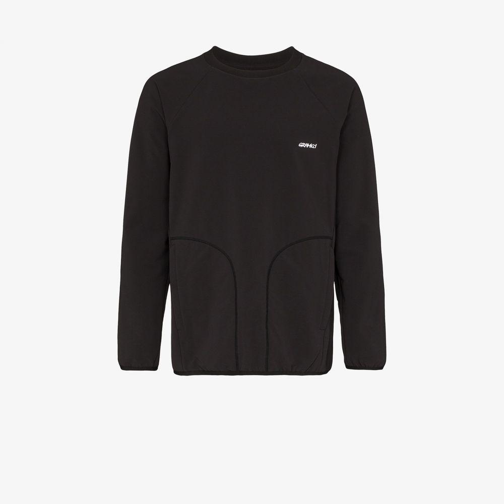 グラミチ Gramicci メンズ フリース トップス【black Storm logo fleece sweater】black