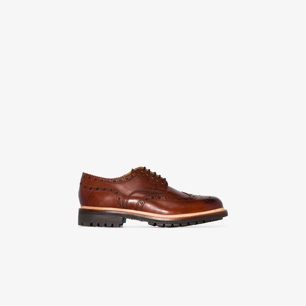 グレンソン Grenson メンズ 革靴・ビジネスシューズ メダリオン シューズ・靴【brown Archie leather brogues】brown