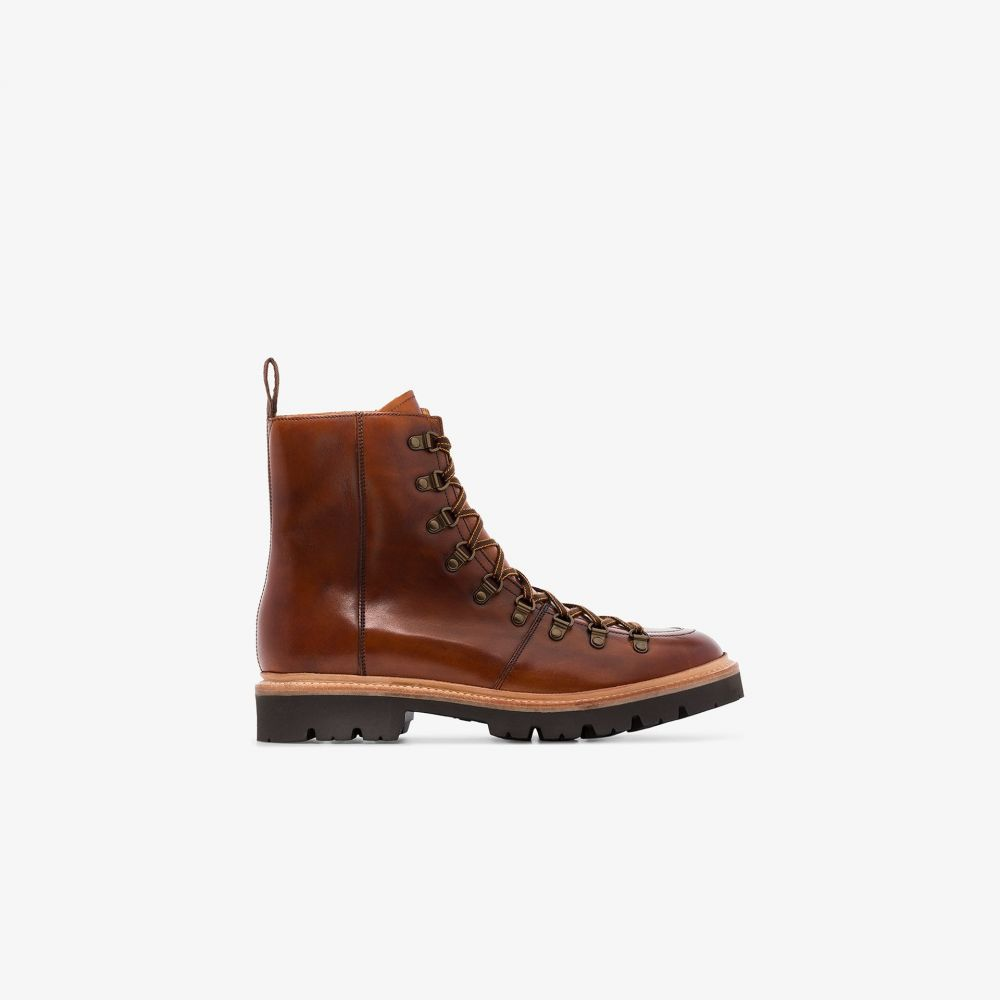 グレンソン Grenson メンズ ブーツ シューズ・靴【Tan Brady Leather Hiking Boots】brown