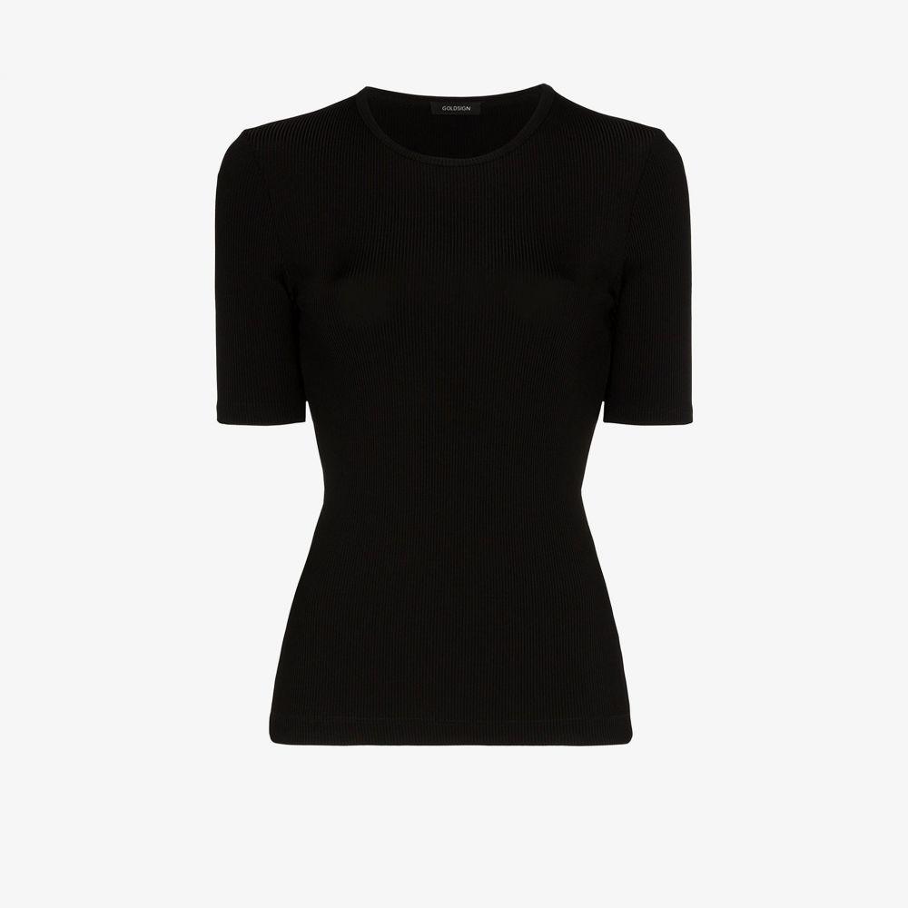 ゴールドサイン GOLDSIGN レディース Tシャツ トップス【Ribbed T-shirt】black