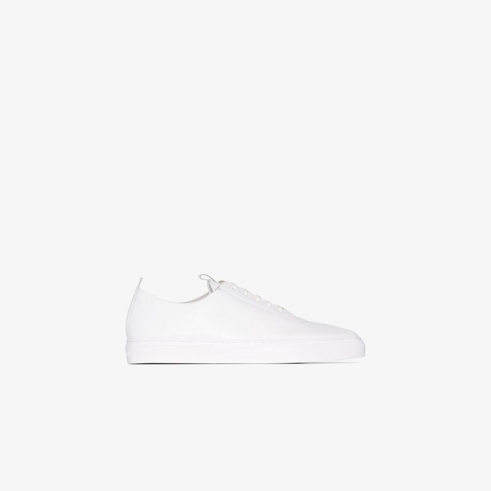 グレンソン Grenson メンズ スニーカー ローカット シューズ・靴【white low top leather sneakers】white