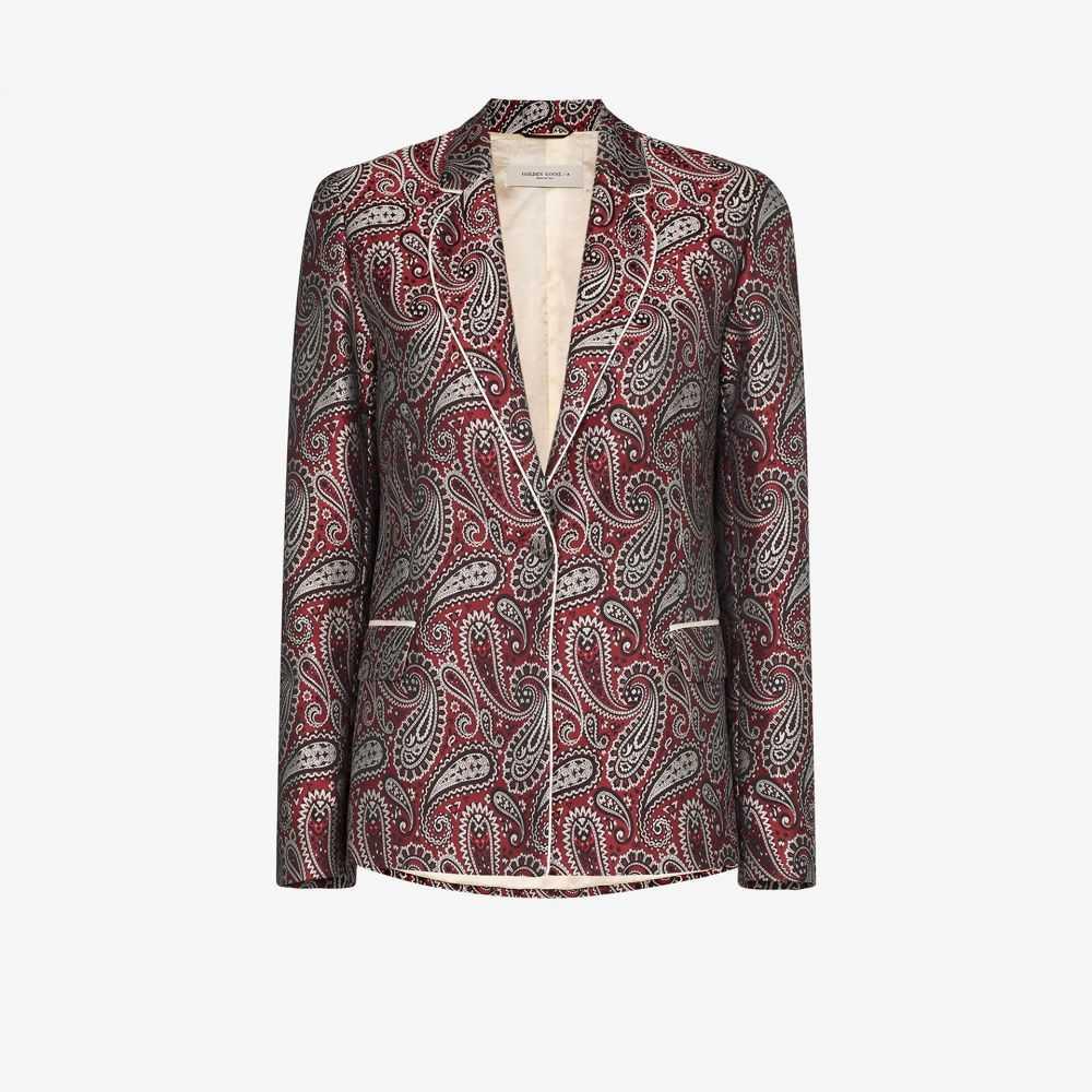 ゴールデン グース Golden Goose レディース スーツ・ジャケット アウター【Venice paisley single-breasted blazer】red