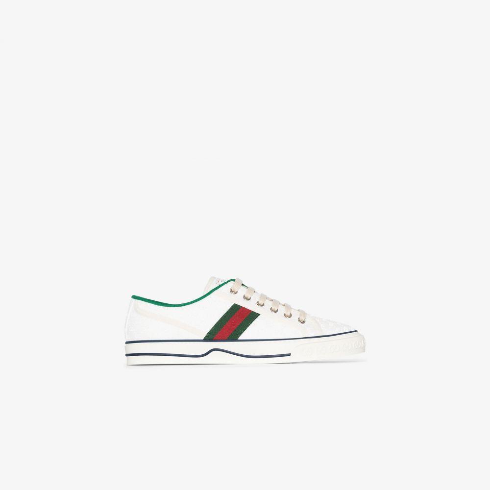 グッチ 買い物 レディース テニス シューズ 靴 white Gucci Tennis サイズ交換無料 開店記念セール sneakers 1977 スニーカー