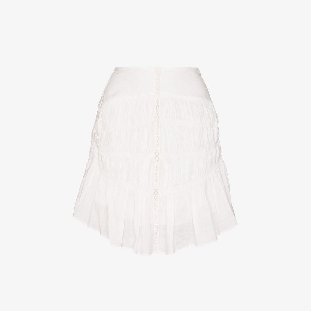 イザベル マラン Isabel Marant レディース スカート 【Sidney lace ruffled hem skirt】white