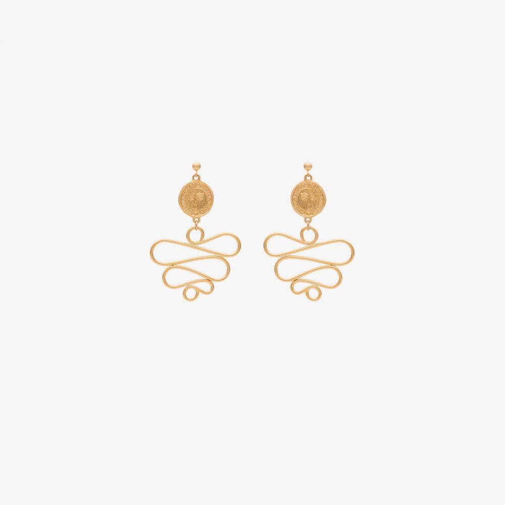 ホリー ライアン Holly Ryan レディース イヤリング・ピアス ジュエリー・アクセサリー【gold-plated Picasso Medusa earrings】gold