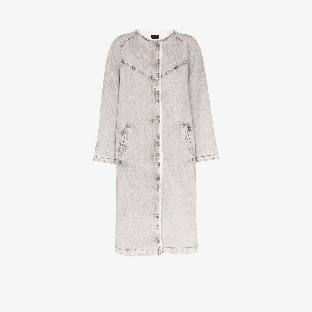 イザベル マラン Isabel Marant レディース コート シアリング アウター【Kaleia oversized denim and shearling coat】grey
