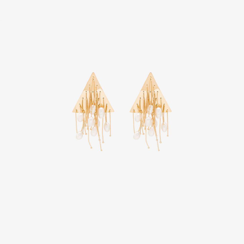 ジル サンダー Jil Sander レディース イヤリング・ピアス ジュエリー・アクセサリー【Gold tone tassel pearl earrings】gold