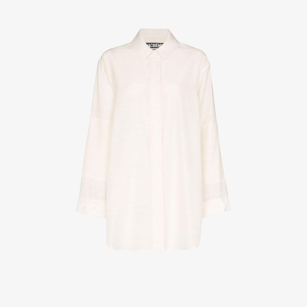 ジャックムス Jacquemus レディース ブラウス・シャツ トップス【La Chemise Loya shirt】white