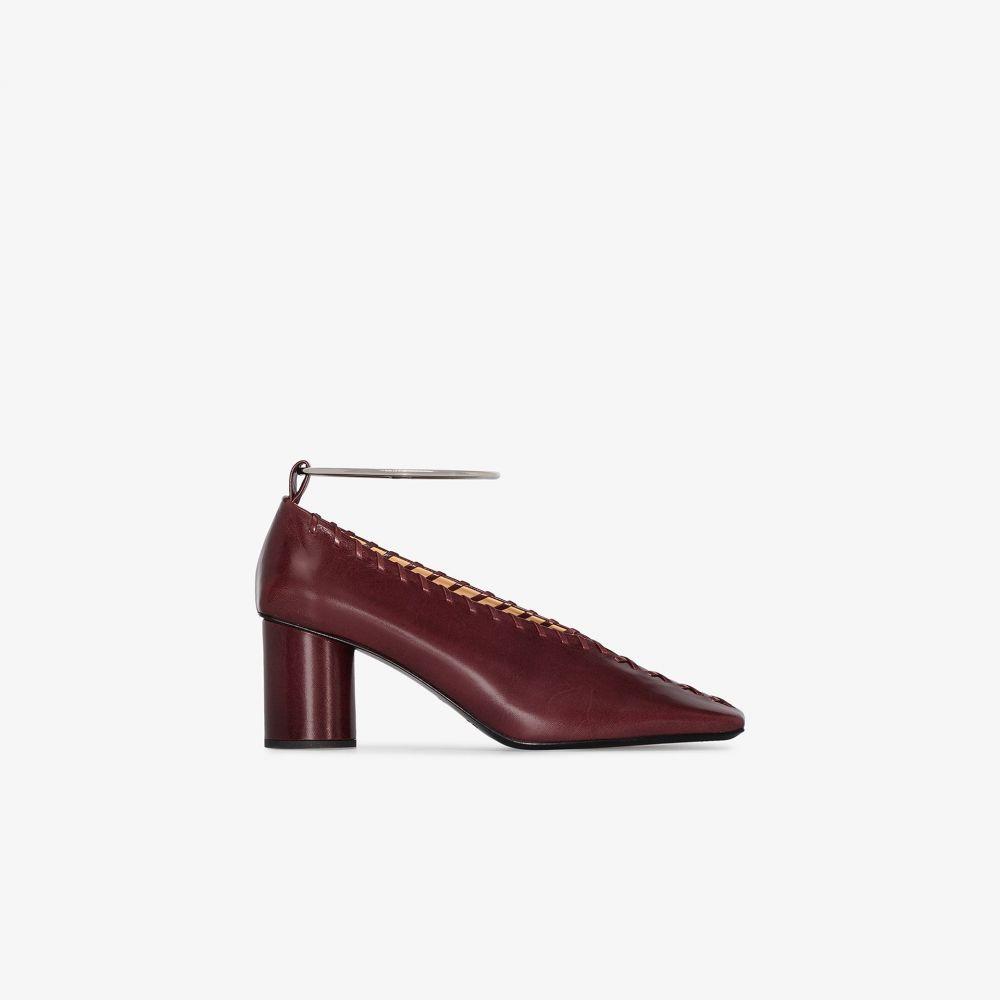 ジル サンダー Jil Sander レディース パンプス シューズ・靴【Red 60 ankle ring stitch detail pumps】red