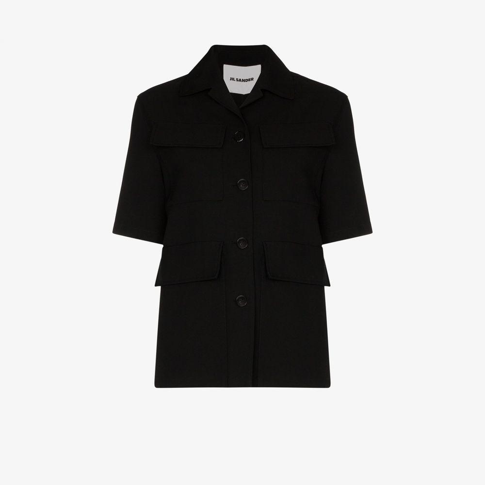 ジル サンダー Jil Sander レディース ジャケット アウター【cropped silk jacket】black