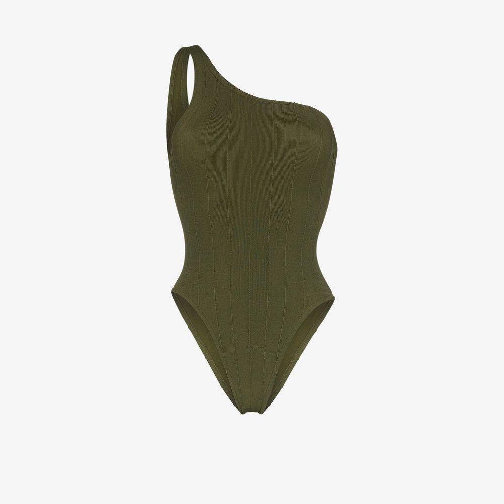 フンザG Hunza G レディース ワンピース 水着・ビーチウェア【Nancy Nile one shoulder swimsuit】green