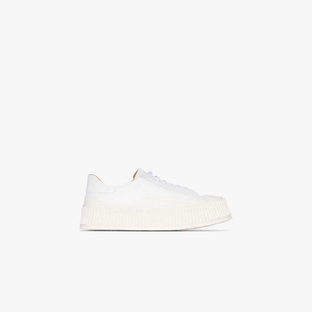 ジル サンダー Jil Sander レディース スニーカー シューズ・靴【white ridged sole leather sneakers】white