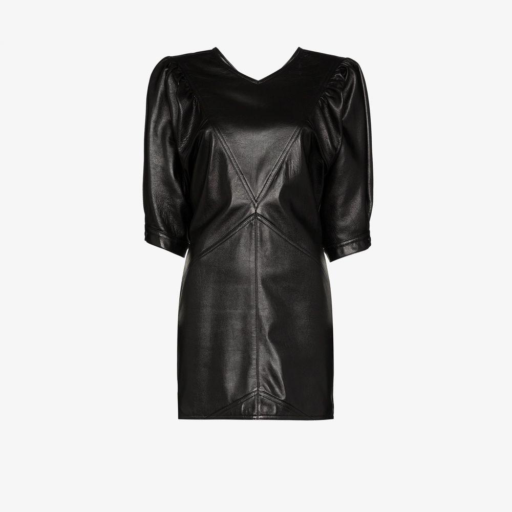 イザベル マラン Isabel Marant レディース パーティードレス ミニ丈 ワンピース・ドレス【Xadela leather mini dress】black