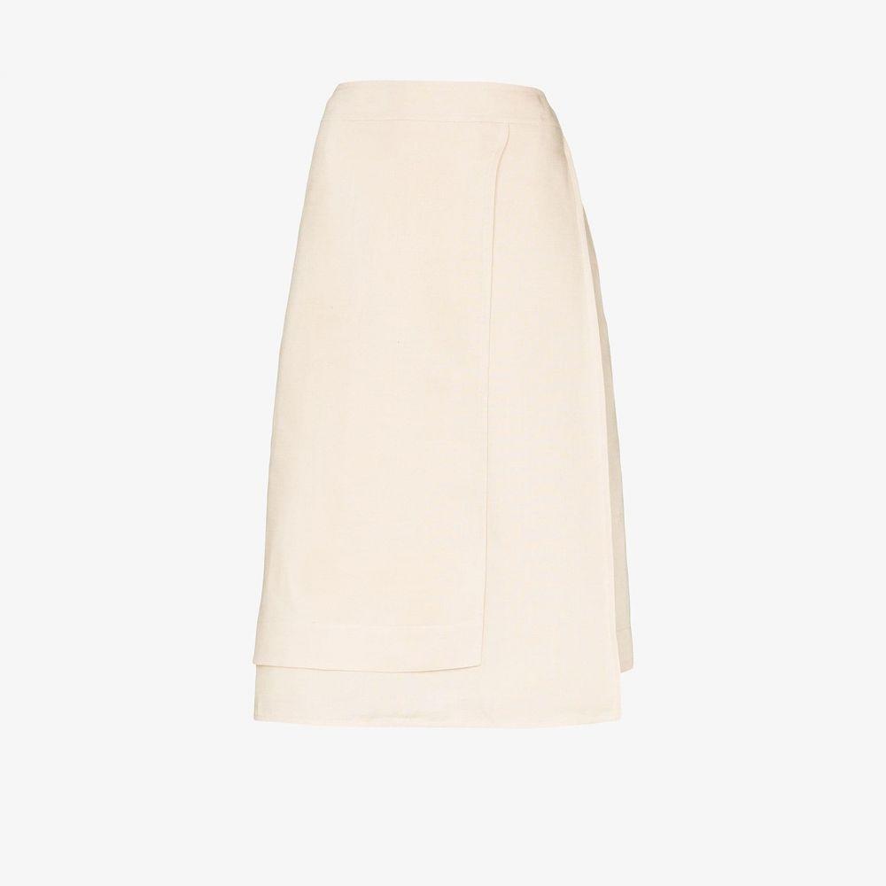 ジル サンダー Jil Sander レディース ひざ丈スカート ラップスカート スカート【Maeve linen wrap skirt】neutrals