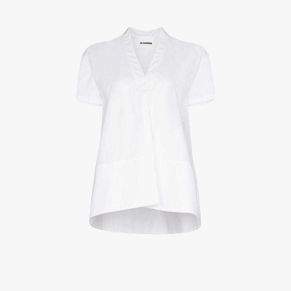 ジル サンダー Jil Sander レディース ブラウス・シャツ トップス【Maria cotton shirt】white