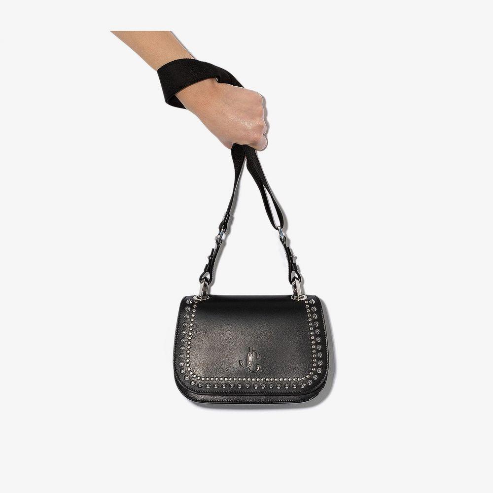 ジミー チュウ Jimmy Choo レディース ショルダーバッグ バッグ【black Varenne studded leather cross body bag】black
