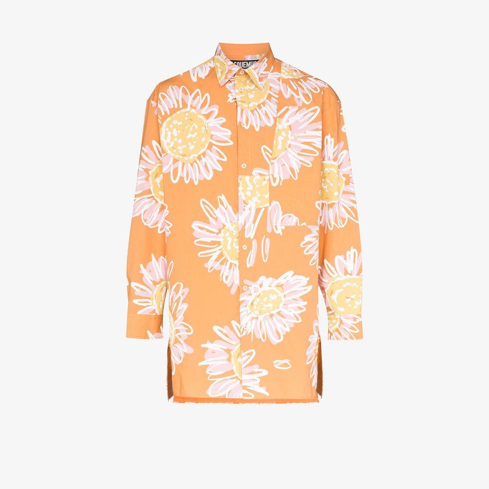 ジャックムス Jacquemus メンズ シャツ トップス【La Chemise Paul floral shirt】orange