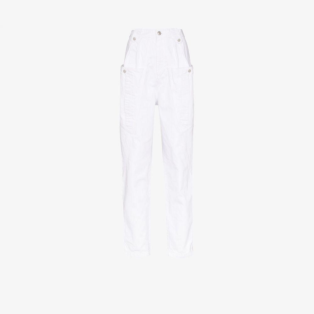 イザベル マラン Isabel Marant レディース カーゴパンツ ボトムス・パンツ【Kerris cargo pocket tapered trousers】white