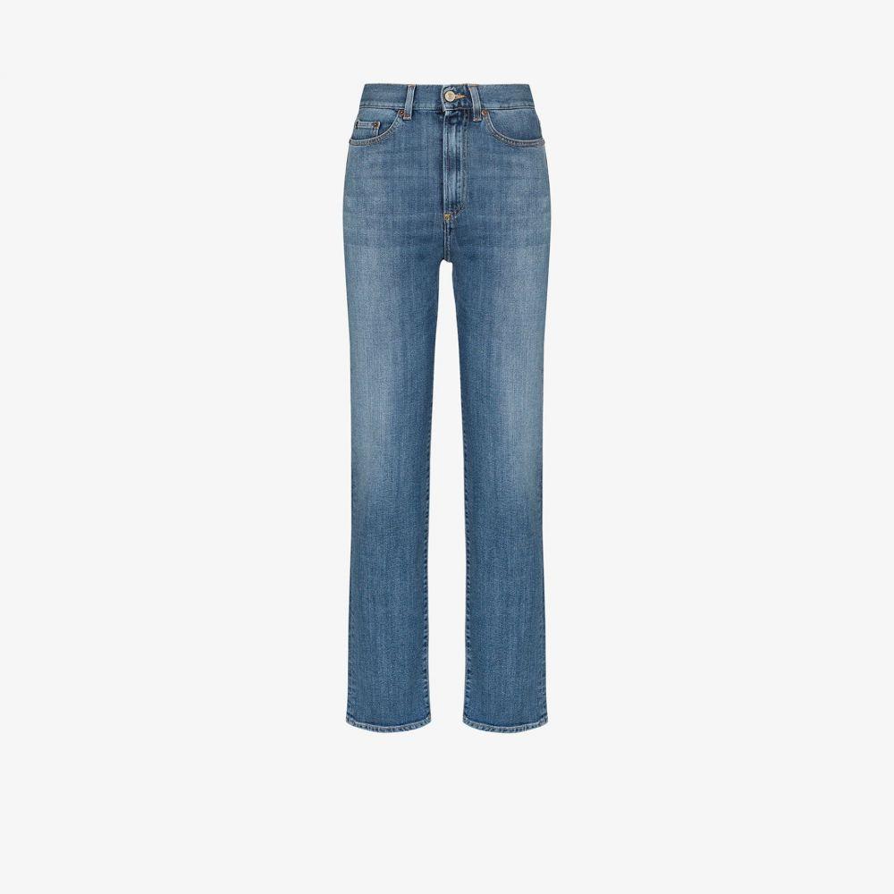 ジーネリカ Jeanerica レディース ジーンズ・デニム ボトムス・パンツ【Super high waist straight leg jeans】blue