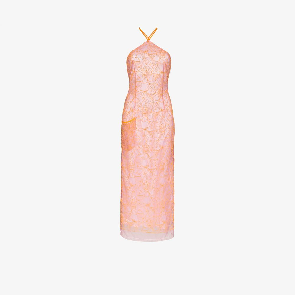 ジャックムス Jacquemus レディース ワンピース ワンピース・ドレス【La robe Lavandou embroidered tulle dress】pink