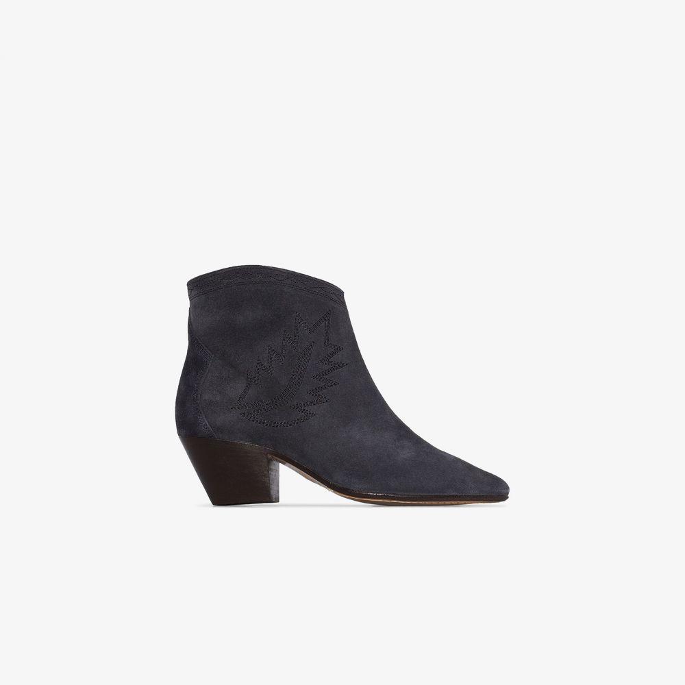 イザベル マラン Isabel Marant レディース ブーツ ショートブーツ シューズ・靴【black dacken 50 embroidered suede ankle boots】black