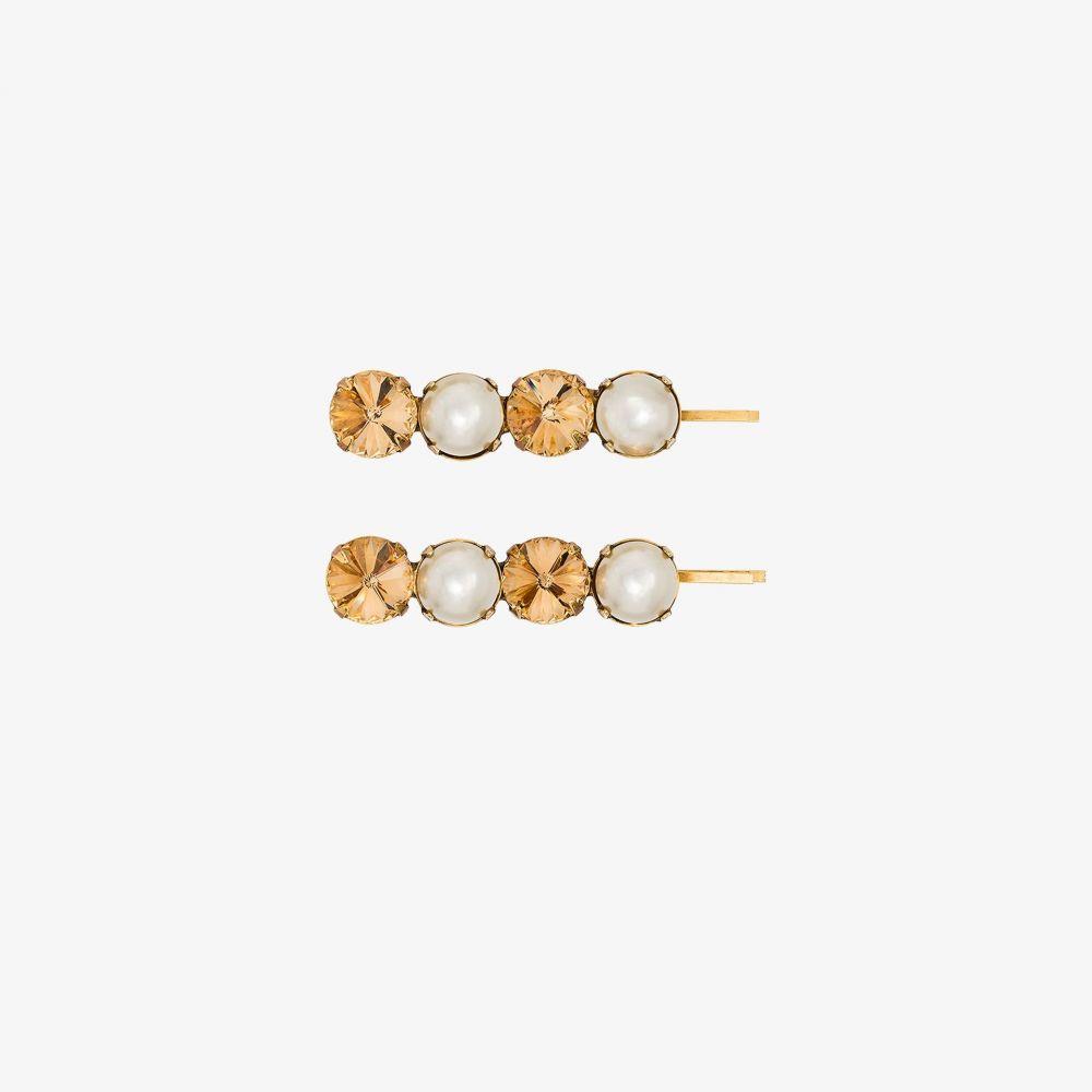 ジェニファーベア Jennifer Behr レディース ヘアアクセサリー 【gold tone Gallina embellished hair clips】gold